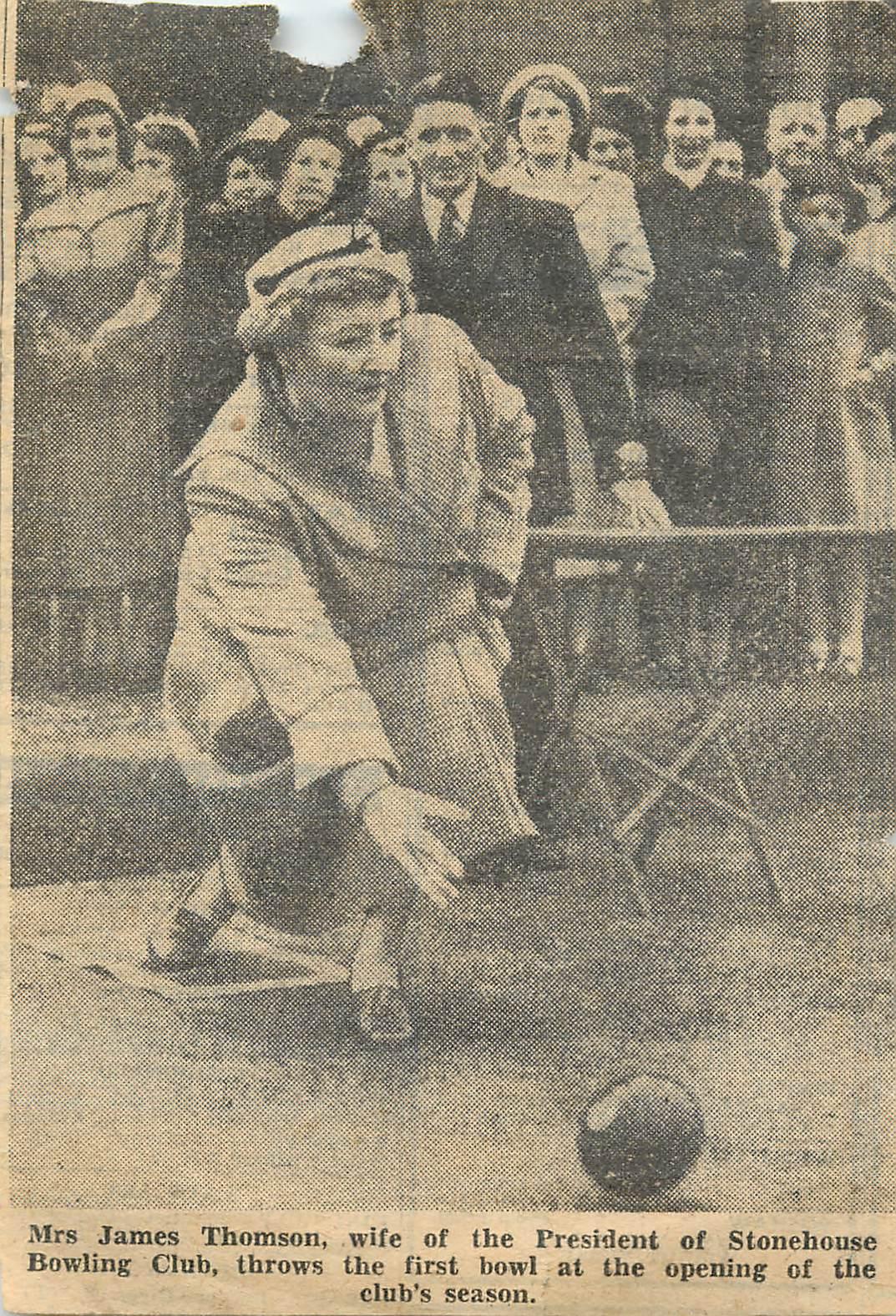 Mrs Thomson Newspaper photo