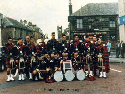 pipe band 1967 at Cross
