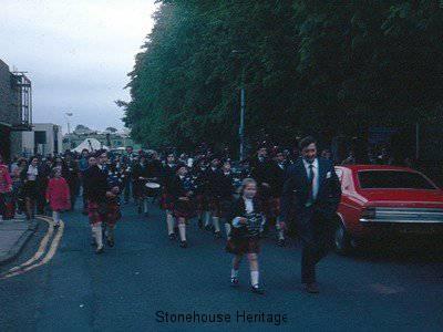 pipe band (East Kilbride 1976)
