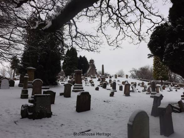 Graveyard in Snow 2