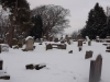 Graveyard in snow 3