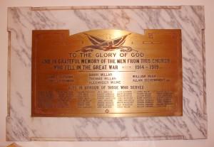 WWI St.Ninian Memorial